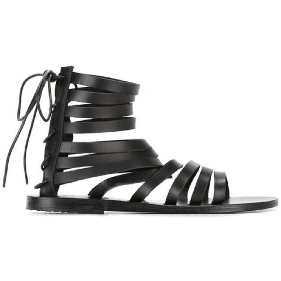 b28bc4148b9784 Ancient Greek Sandals - Galatia Black Sandals